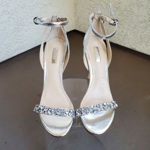Silver Jeweled Guess Heels